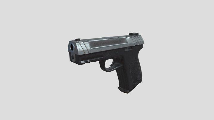 3D model of 9mm Gun 3D Model