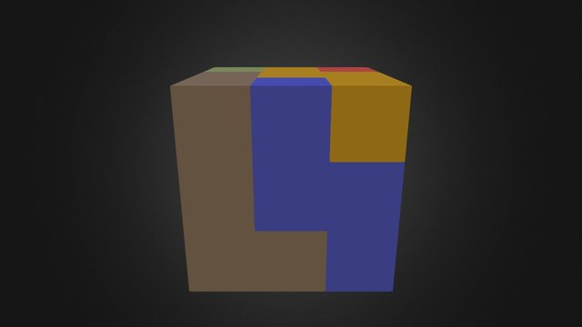 Puzzle Cube Assembly SS 3D Model
