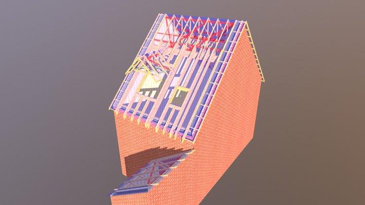 Top Hat roof 3D Model
