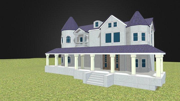 Realistic Mansion Environment Exterior 3D Model