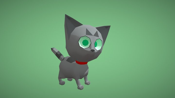 Stripe the Cat Rigged and Animated 3D Model