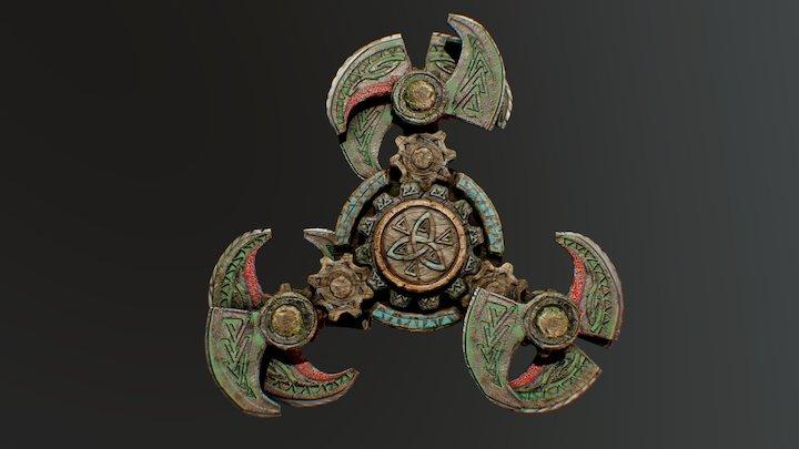 Viking Fidget Spinner 3D Model