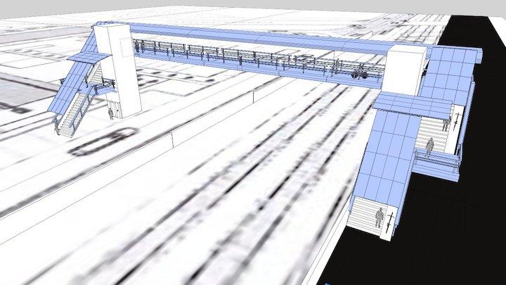 Sovrapasso Pedonale 3D Model