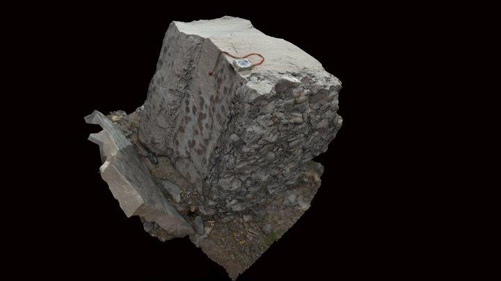 Ainsa Quarry Boulder 3D Model
