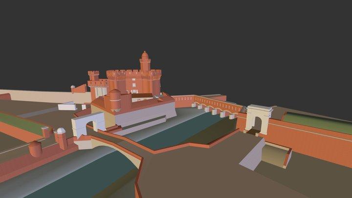 Le Castillet 3D Model