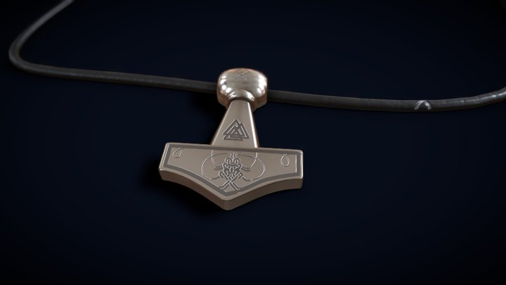 Mjolnir Necklace 3D Model