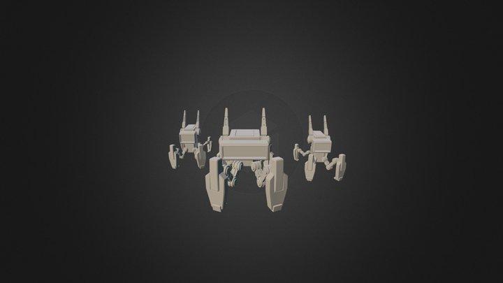 Dog Robots 3D Model