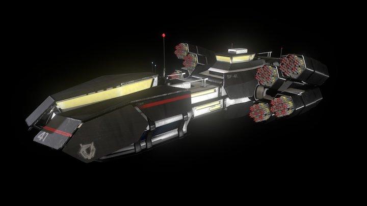 Intryon: Sanger Missile Barge V3 3D Model