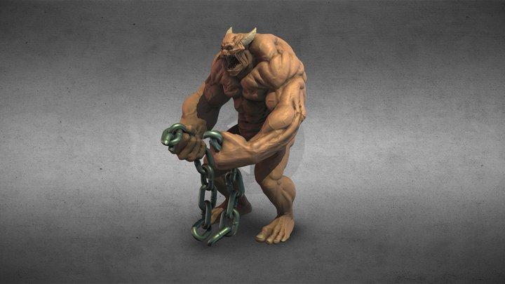 Chain beast 3D Model