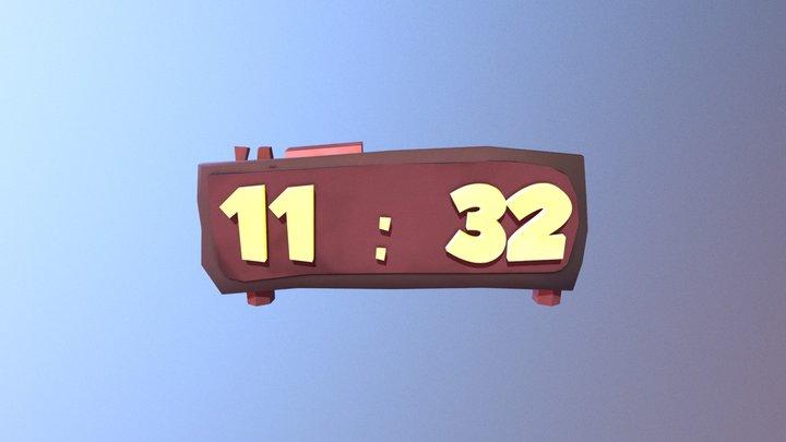 Stylized Alarm Clock 3D Model