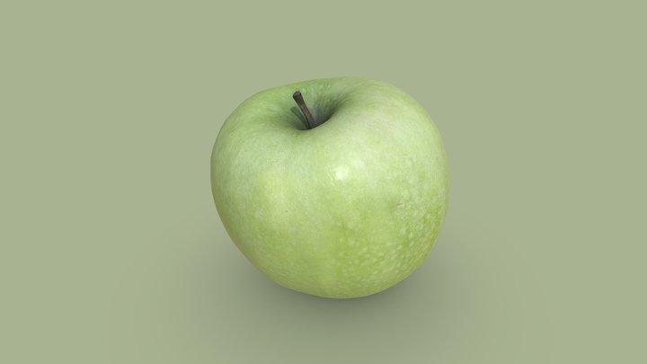 Tasty Green Apple 3D Model