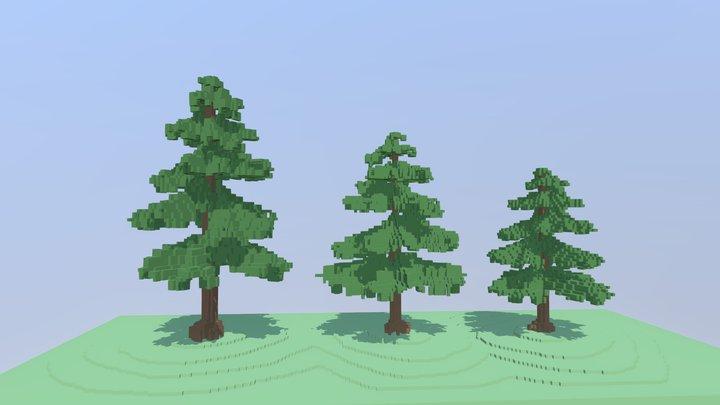 Voxel Trees 3D Model