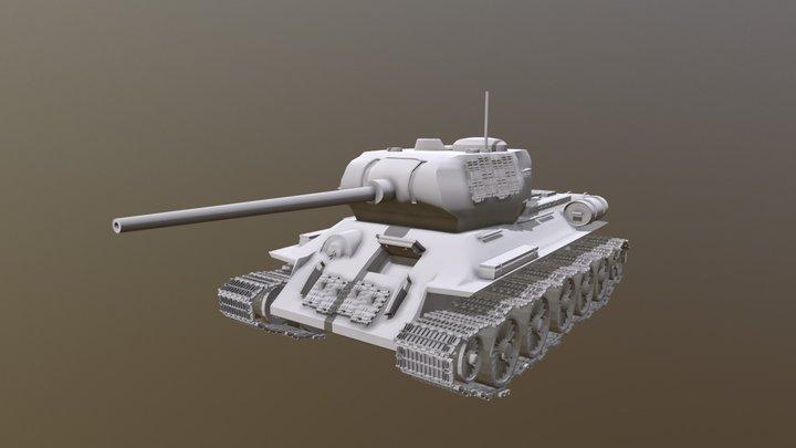 T34-85 3D Model