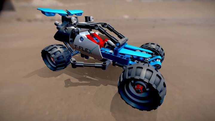 Car (Lego Technic 42010) 3D Model