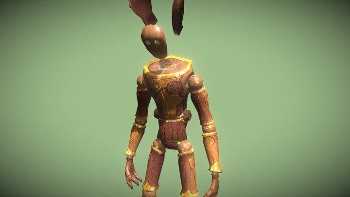 Tree Golem Boss - Handpainted Lowpoly 3D Model