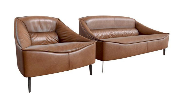 Toska Armchair & Sofa 3D Model