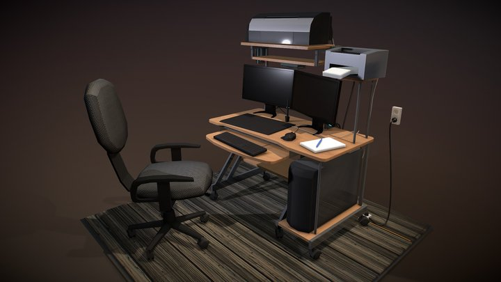 Workplace 3D Model