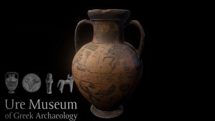 Etruscan ('Pontic') black-figure amphora vr.1 3D Model