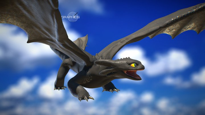 Toothless - How To Train Your Dragon 3D Model