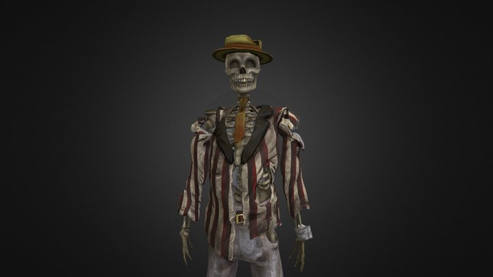 Spooky Jazz Pianist 3D Model