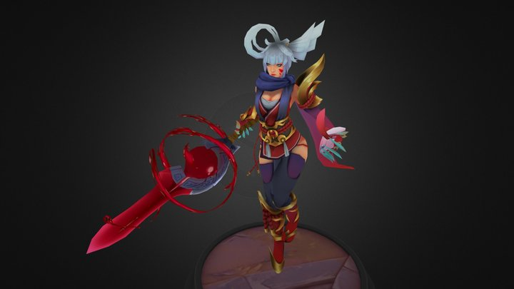 Blood Moon Riven - League of Legends Fanart 3D Model