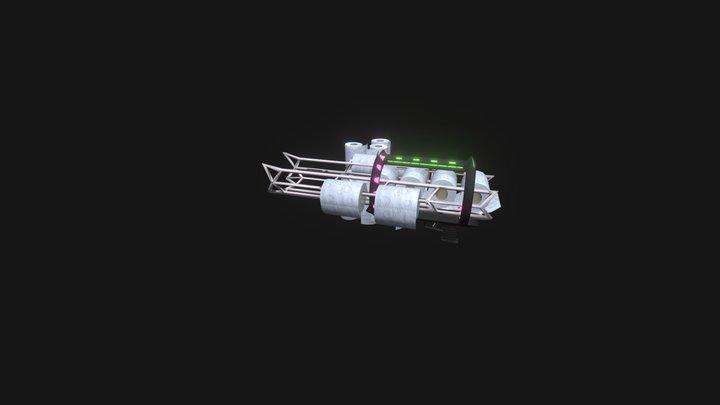 Corona Hunter - toilet paper Gun 3D Model