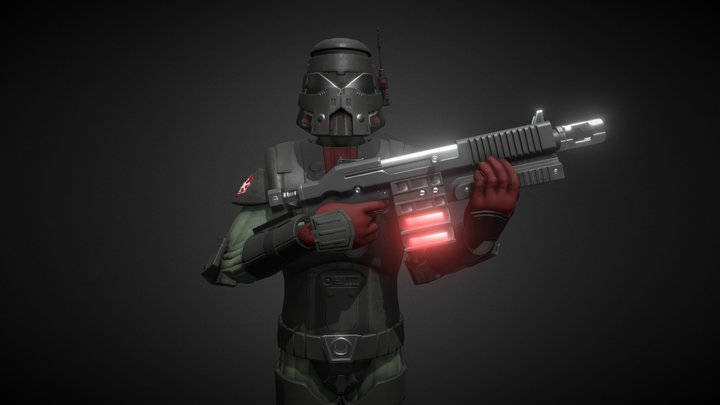 The Imperial Trooper 3D Model