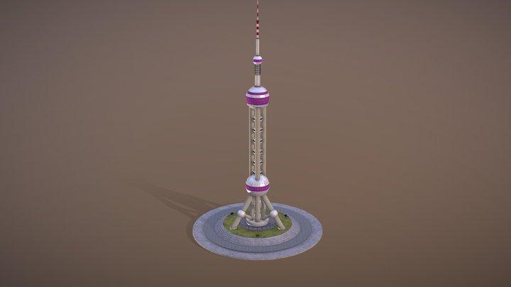 Shanghai Oriental Pearl Tower 3D Model