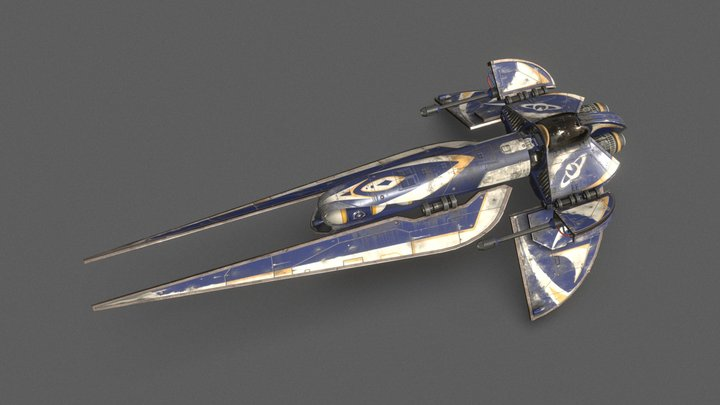 Cargo Enforcer Spaceship 3D Model