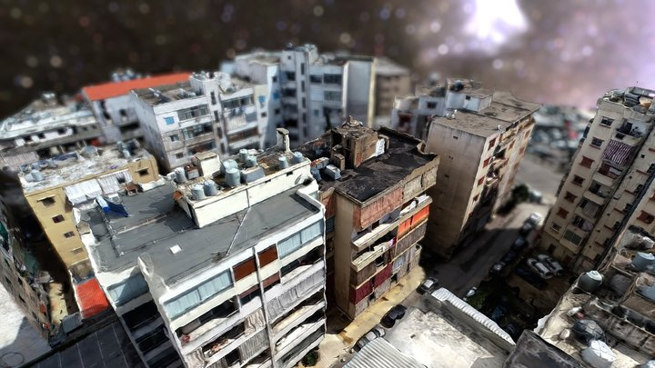 Beirut rooftop 3D Model
