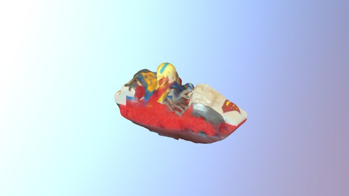 Melted supergirl lego 3D Model