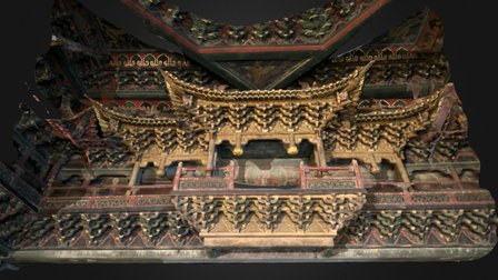 Golden Miniature Hall 3D Model