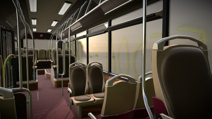Fantastic Park   WIP 3 - Bus LP 3D Model