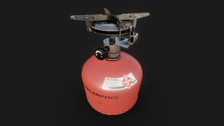 Travel Camping Gas Stove 3D Model