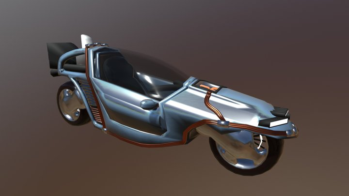 Motorcycle Time Machine 3D Model