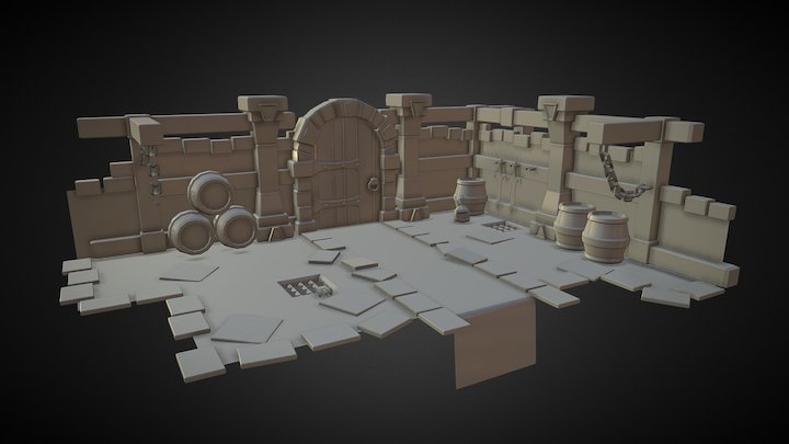 Dungeon   W.I.P  3D Model