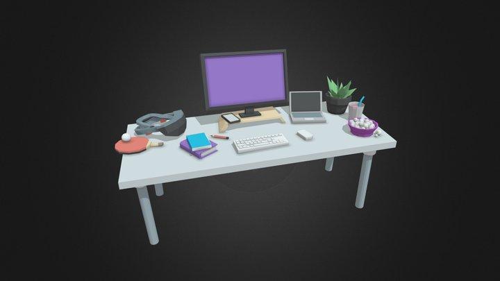Desk at In The Pocket 3D Model