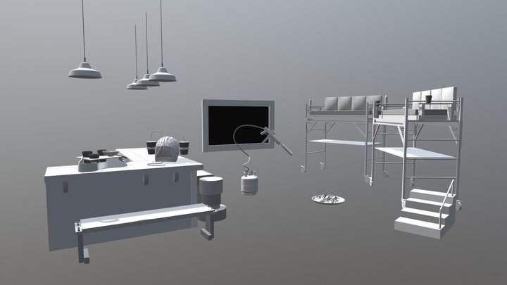 Brojects In The House: Sports Lounge 3D Model