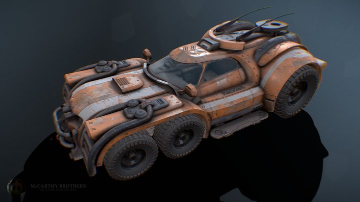 Marauder - Derelict Tug Vehicle 3D Model