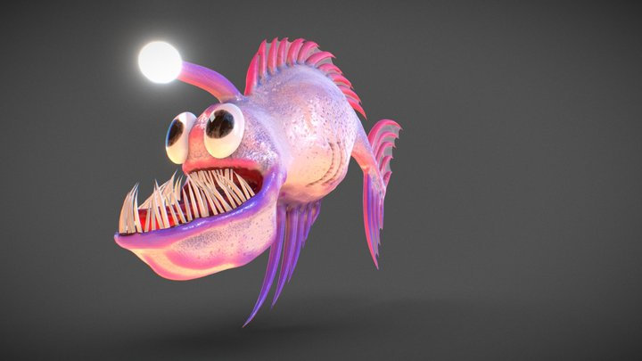 Fantasy candy fish 3D Model