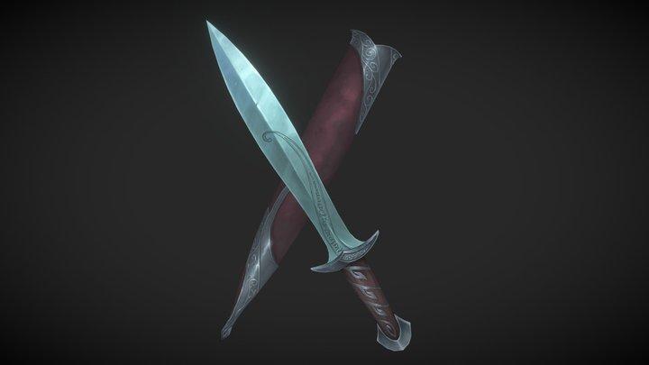 Bilbo's and Frodo's sword named Sting from LOTR 3D Model