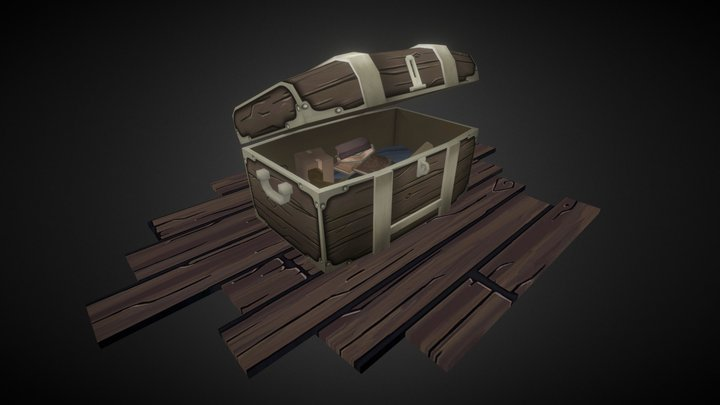 Attic Old Chest 3D Model