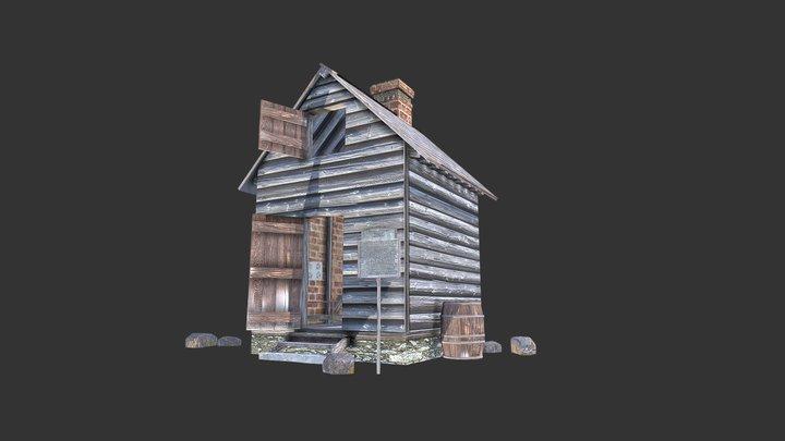 Hidden Town 3D Christian David House 3D Model