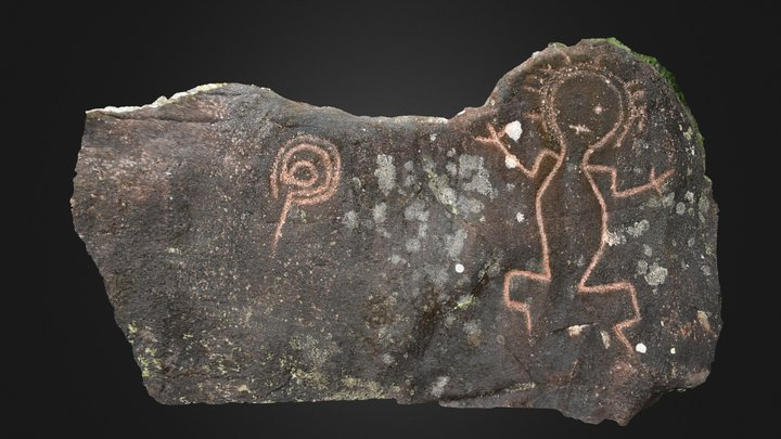 Amazonian Ecuador Petroglyph Boulder