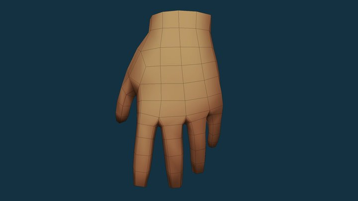 Hand (low poly) 3D Model