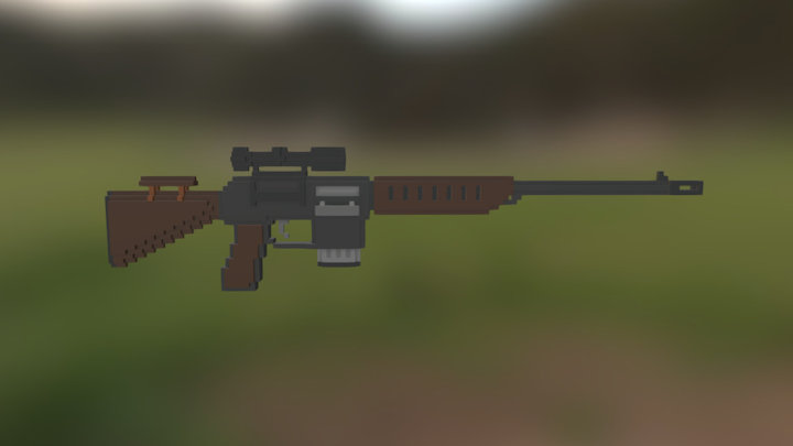 Maskman Rifle 3D Model