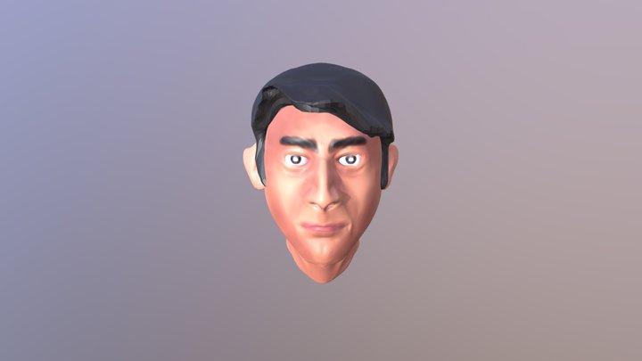 Male Head 001 3D Model