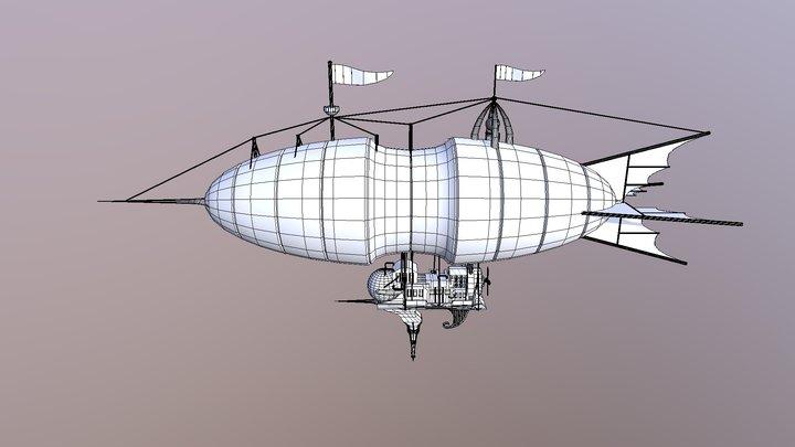 Zeppelin wireframe 3D Model