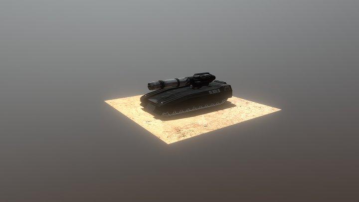 Wolf Tank - Tex 2 - Machinegun Tower 3D Model