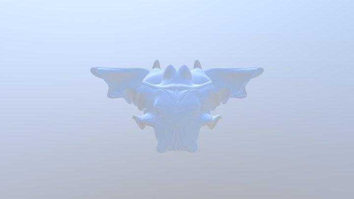 Sculptris Alien Head 3D Model